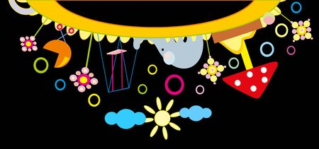 baby drawing - a nursery playground Stock Vector - 8420714