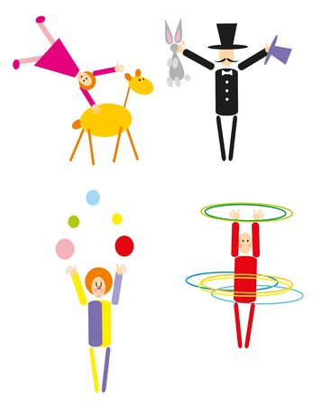 circus people isolated Vector