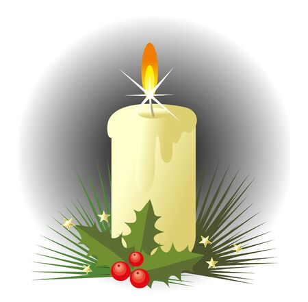 christmas candle Illustration