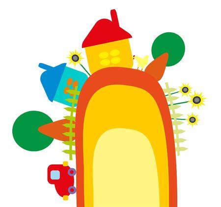 baby illustration - farm Stock Vector - 8420705