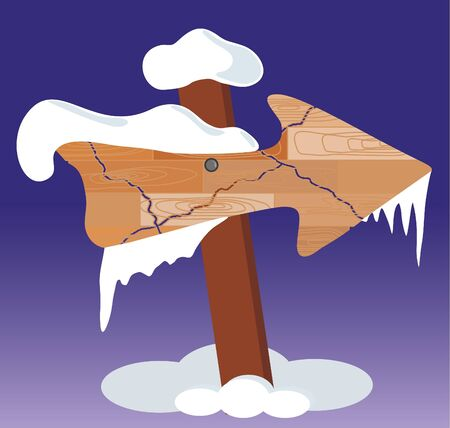 signboard and icicle Vector