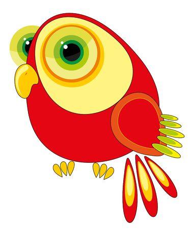 nursery illustration - fun parrot Vector