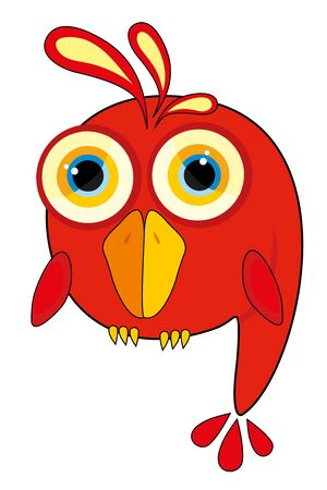 nursery illustration - fun parrot Stock Vector - 8420751