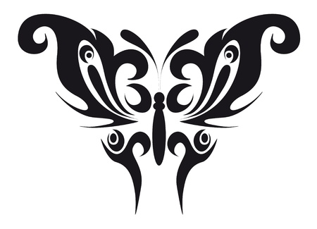 moth: abstract tattoo - a magic butterfly