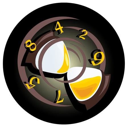 sand clock Stock Vector - 8420794