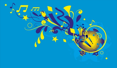 music background with note Vector