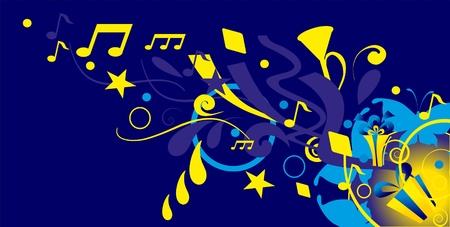 minims: music background with note Illustration