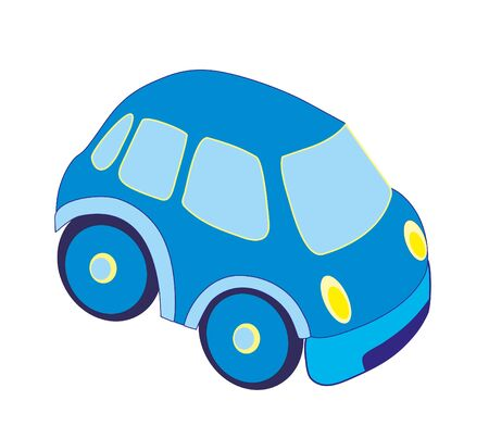 Blue isolated car Illustration