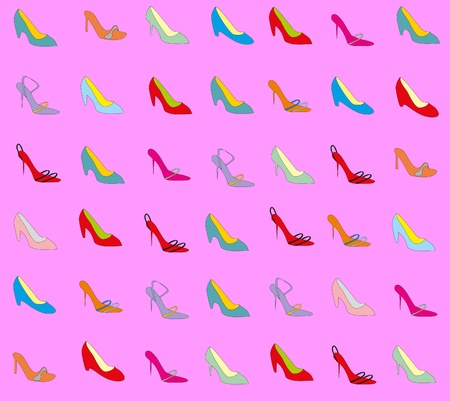 loafers: Background from feminine loafers Illustration