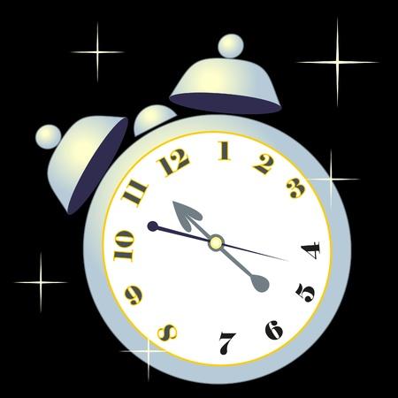alarm clock on white background Stock Vector - 8542724