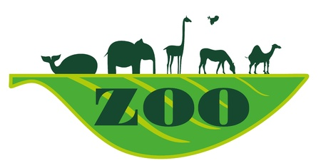 africa outline: zoo on sheet