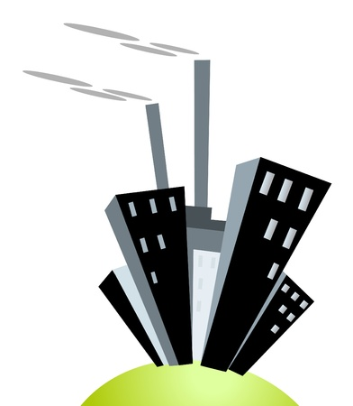 city on island isolated Vector