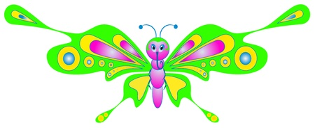 cartoon insect - color butterfly Stock Vector - 8542729