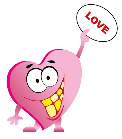 smile valentines heart isolated Stock Vector - 8566608