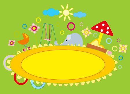 baby drawing - a nursery playground Stock Vector - 8566574