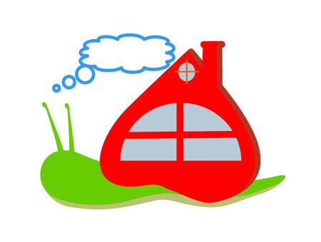 snail and red home