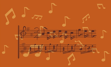 sonic: music background with note Illustration