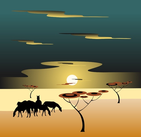 africa nature Vector