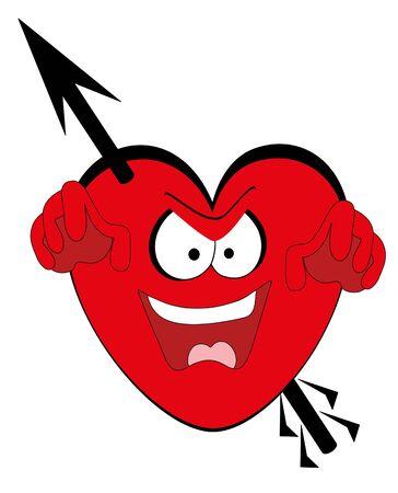 illustration. Valentines heart. Stock Vector - 8597627