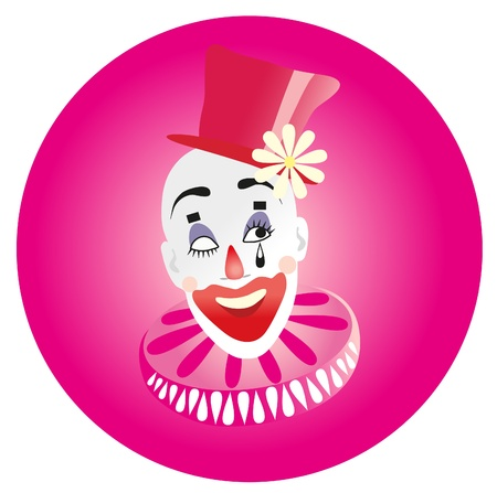 illustration. Clown. Vector