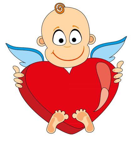 Angel take heart. Vector