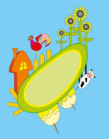illustration. Farm. Stock Vector - 8628983