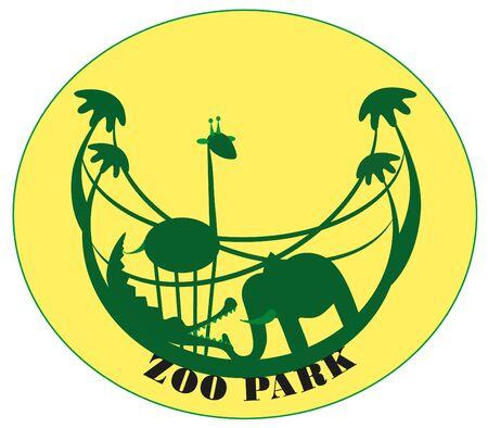 illustration zoo: illustrazione. Zoo.