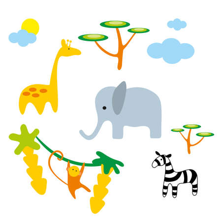 illustration. Zoo. Africa animals. Stock Vector - 8692922