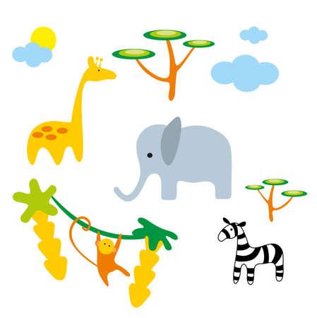 illustration. Zoo. Africa animals. Stock Vector - 8692922