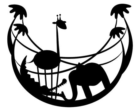 illustration. Zoo. Vector