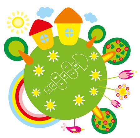 illustration.Green planet. Stock Vector - 8692935