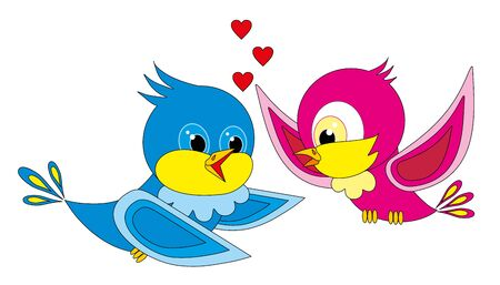Vector illustration. Love birds. Stock Vector - 8794345