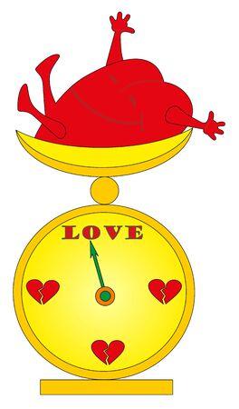 Vector illustration. Love scales Vector