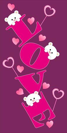 Love bear Vector