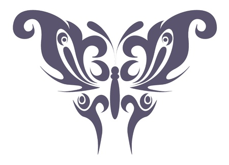 abstract tattoo - a magic butterfly Stock Vector - 8781818