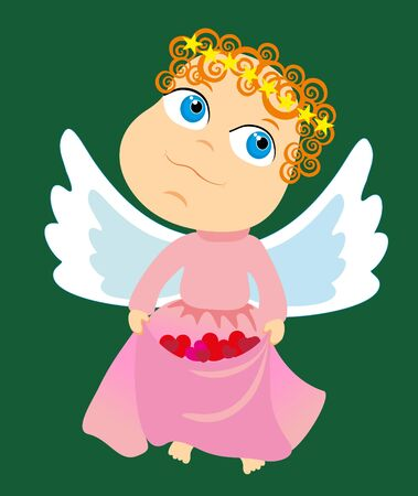 Vector illustration. Love angel. Vector