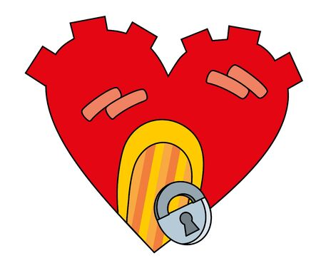 Vector illustration. Heart castle Vector