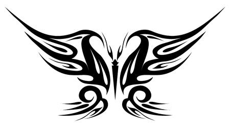 farfalla nera: Farfalla tatuaggio nero