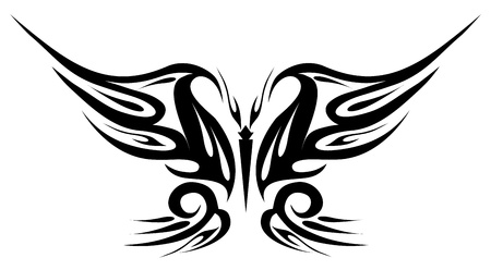 Tattoo black butterfly Stock Vector - 9086437