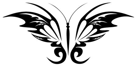 Tattoo black butterfly Vector
