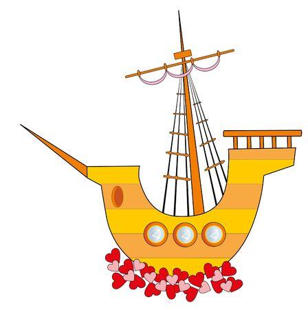 sailing vessel: Velero de amor