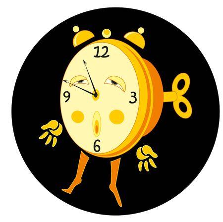 cartoon alarm and key Stock Photo - 9596214