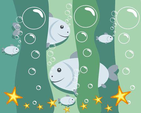 buble: vector illustration: fish Illustration