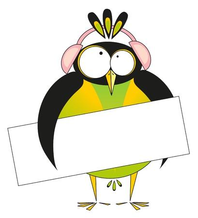 vector illustration: penguin Vector