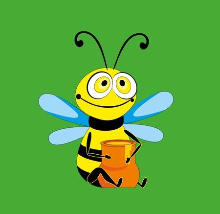 bee and jug Vector
