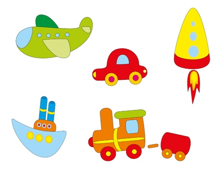 Set of toys Vector