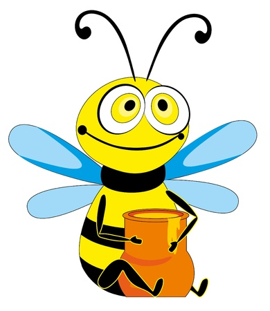 bee and jug Vector