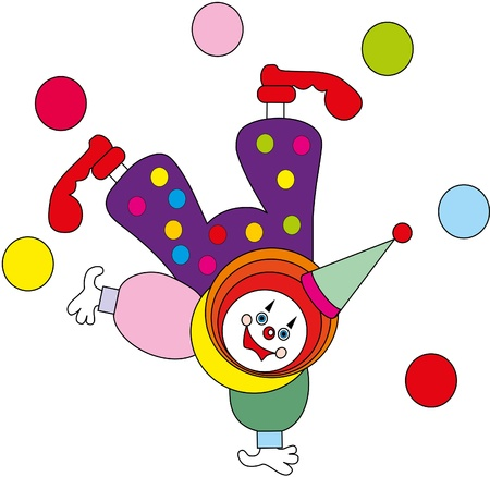 childrens toy - the clown Vector