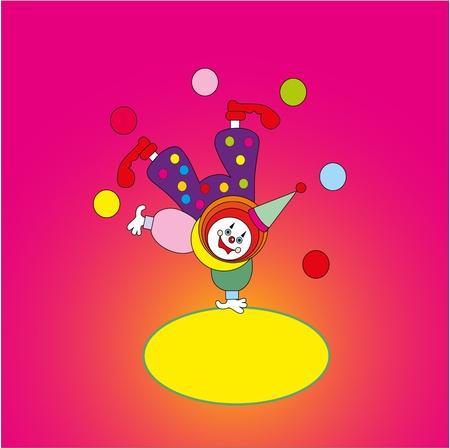 children's toy - the clown Stock Vector - 13287956