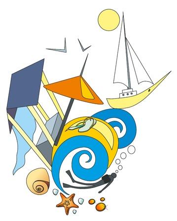 polyp: Vector illustration  Sea success